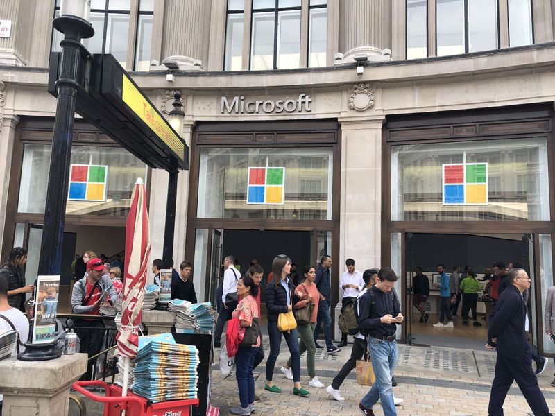 Things we love, Microsoft store Oxford Circus