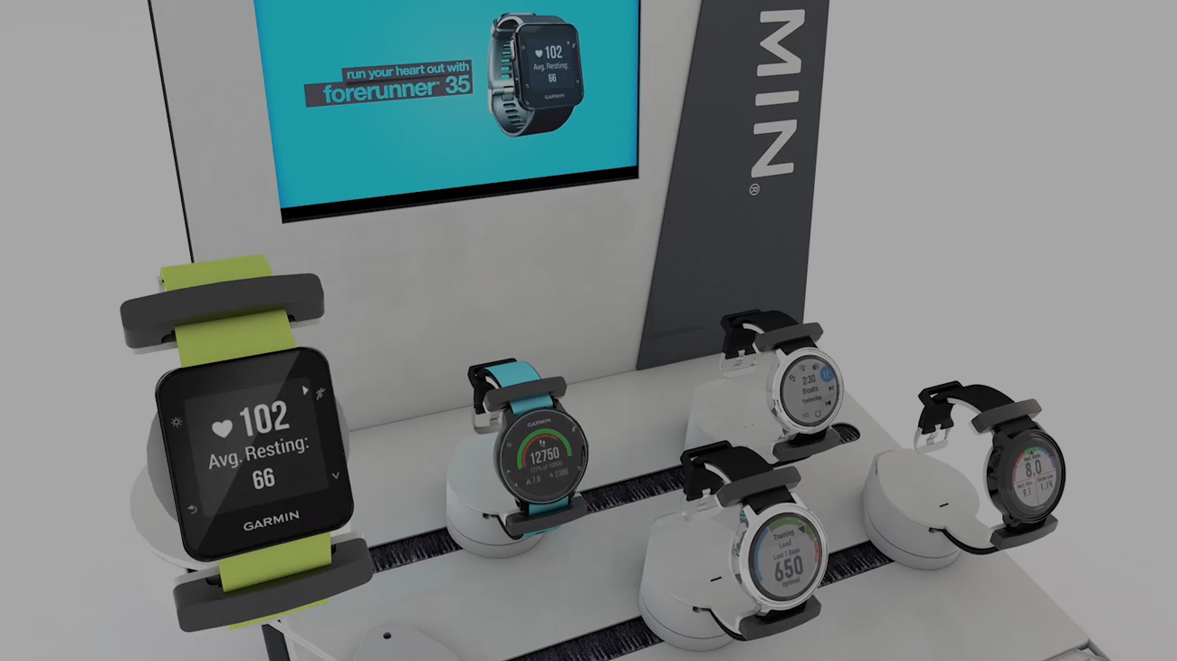 Garmin EMEA M.I.D. display range
