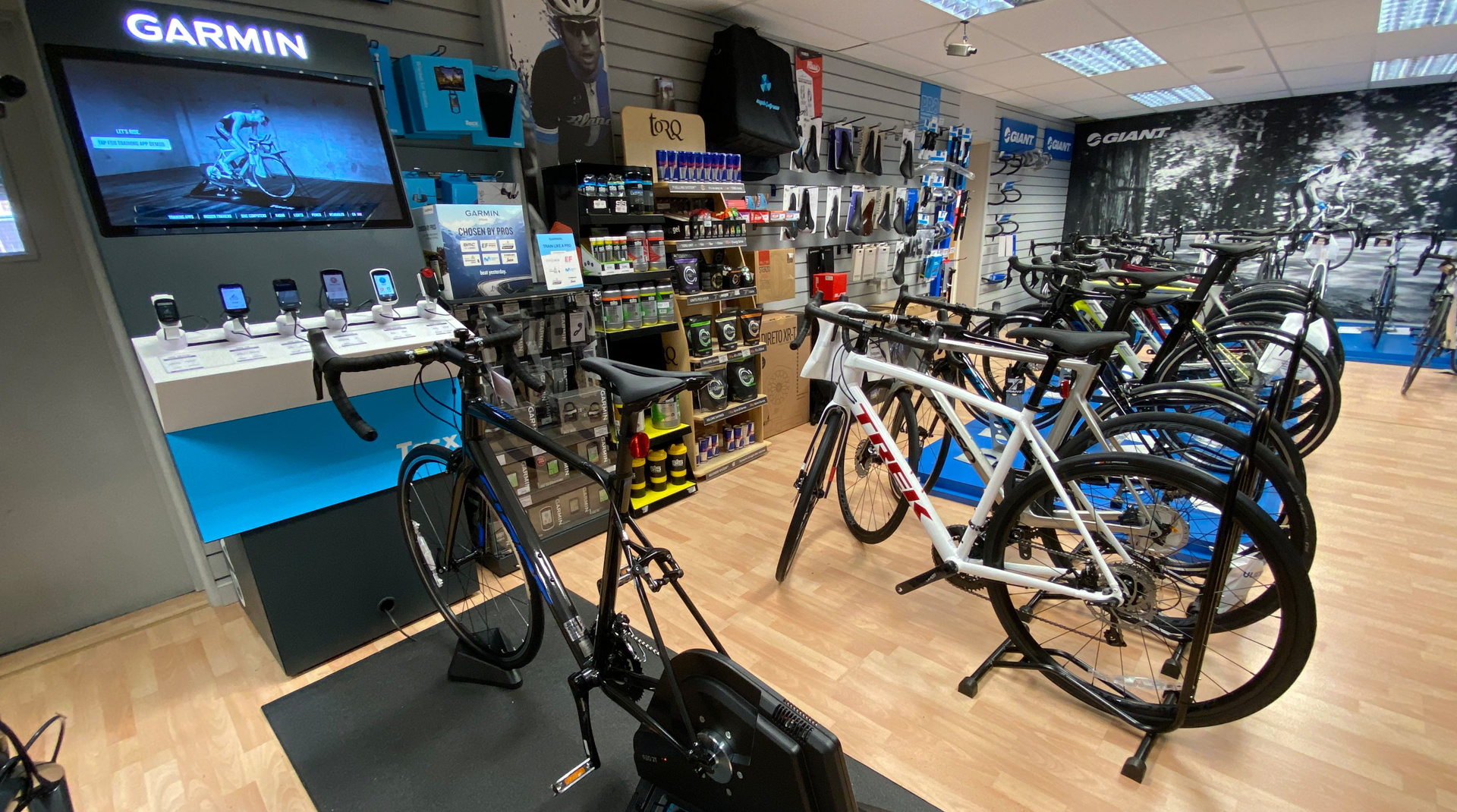 Garmin Tacx in-store cycling experience